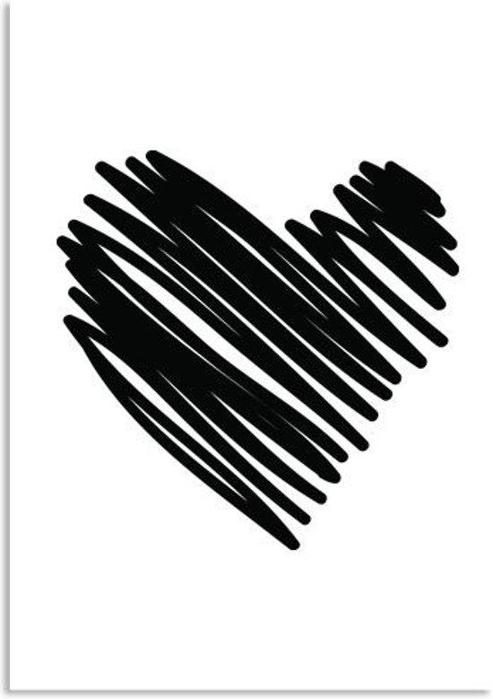 bolcom poster hartje wanddecoratie designclaud zwart