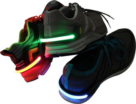 LED Verlichting voor Schoenen   Veiligheidslicht voor Schoenen   Safety Light   Hardlopen   Wandelen   Knipperend licht   Verschillende Kleuren