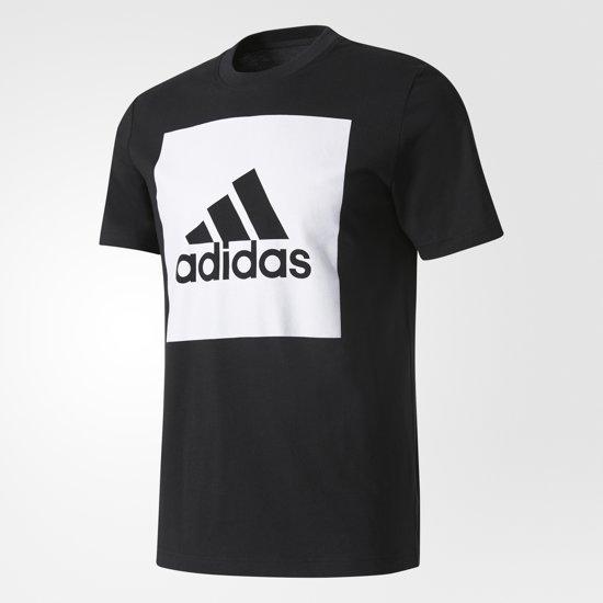 5a7db0378e0 adidas Essentials Box Logo T-shirt Heren Sportshirt casual - Maat M -  Mannen -