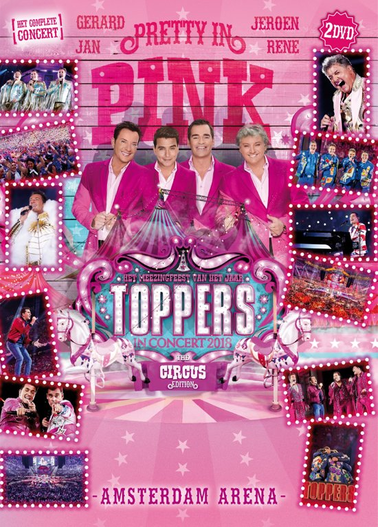 CD cover van Toppers In Concert 2018 - Pretty In Pink (DVD) van Toppers