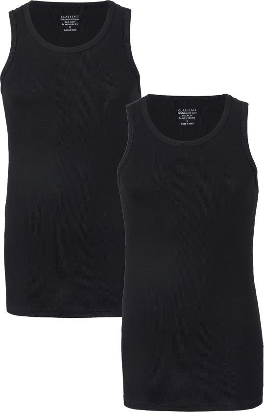 Claesen's Rib Singlet (2-pack) - zwart -  Maat XXL