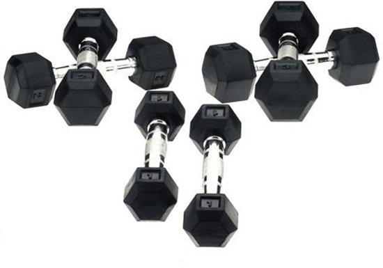 Hexa Dumbbells set 2 x 5kg - Focus Fitness