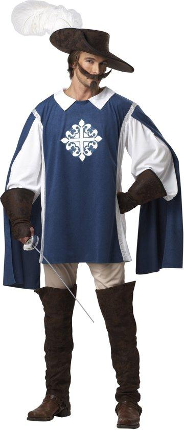 Blauw klassiek musketier kostuum voor heren - Volwassenen kostuums