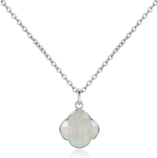 CAPUCINE Necklace silver/Rainbow Moonstone