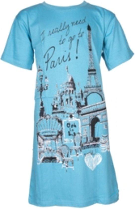 702f496d1ee9 bol.com | Fun2Wear Big Shirt Paris Blue One Size maat 140-176
