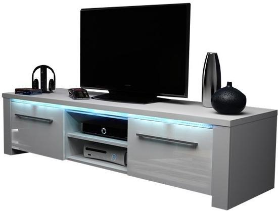 Hoogglans Wit Kast : Bol.com tv meubel tv kast messa incl led body wit front hoogglans wit