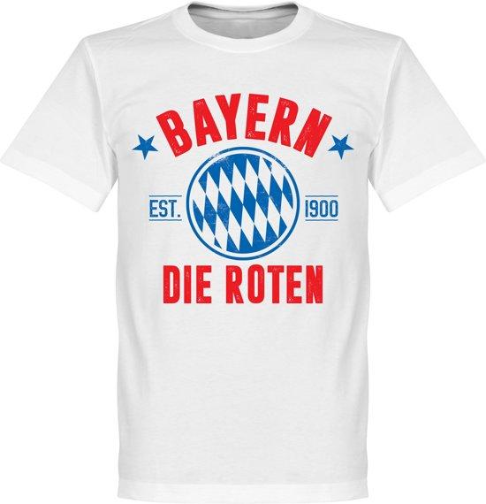 Bayern Munchen Established T-Shirt - Wit - XXL