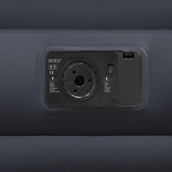 Intex Luchtbed verhoogd met ingebouwd kussen PVC 99x191x42cm zwart