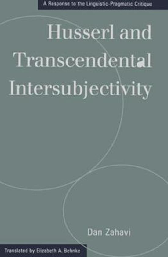 philosophy husserl on intersubjectivity essay