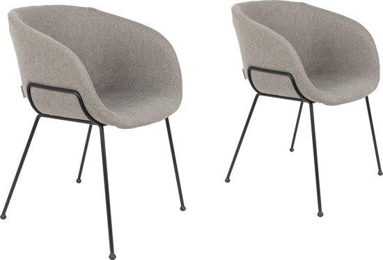 Zuiver feston stoel met armleuning grijs for Merk stoelen