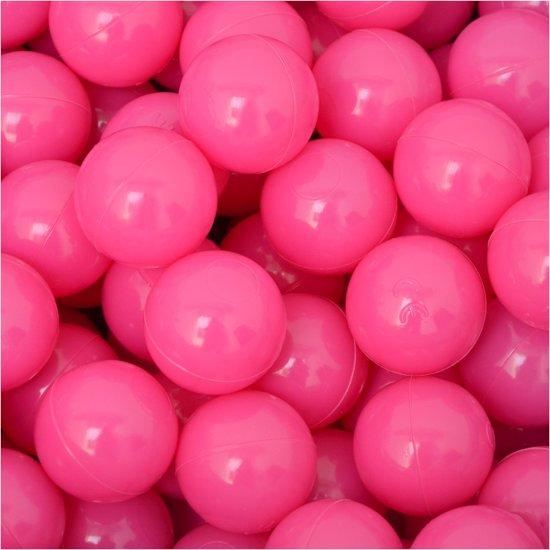 50 Babybalballen 5,5 cm Kinderballen Balbadje Kunststofballen Babyballen Roze