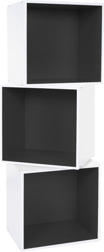 boekenkast kast vierkant cube shelf boekenkast muurkast 3