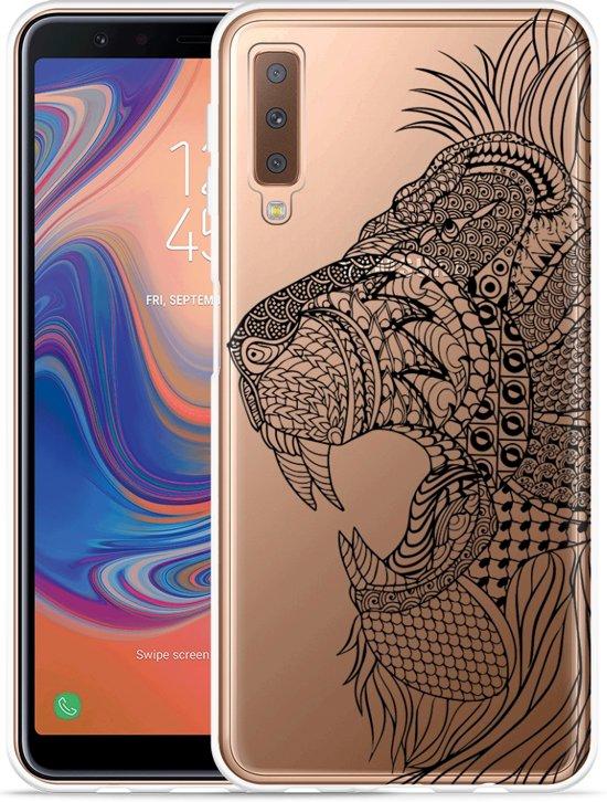 Galaxy A7 2018 Hoesje Leeuw Mandala