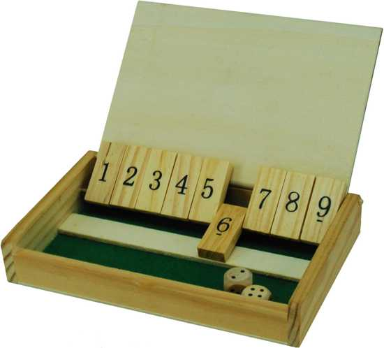 Shut the Box Mini hout 13x8 cm.