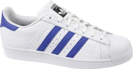 adidas superstar wit blauw