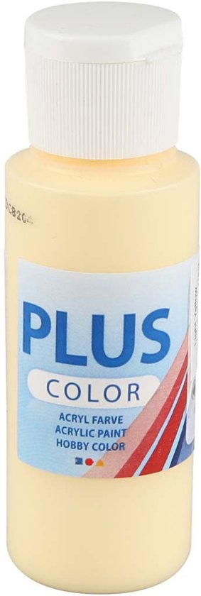 Plus Color acrylverf, light yellow, 60ml