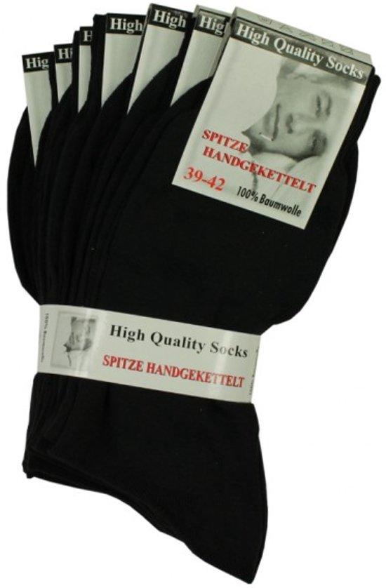 Groothandel Katoenen Sokken Of Voor Maat Zwarte 39 42 Dames 140 Heren Paar aEqgwxP