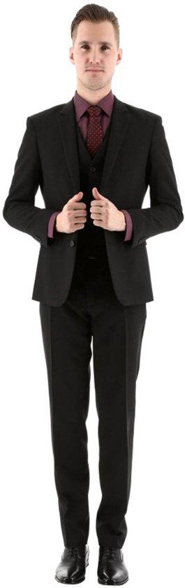 Henk ter Horst 3-delig microblack kostuum zwart_44, maat 44