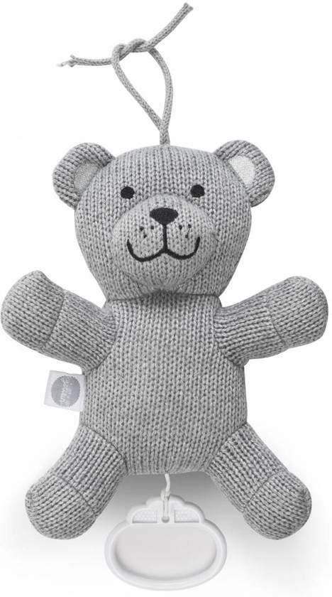 Jollein muziekhanger Natural Knit bear grey Beertje grijs