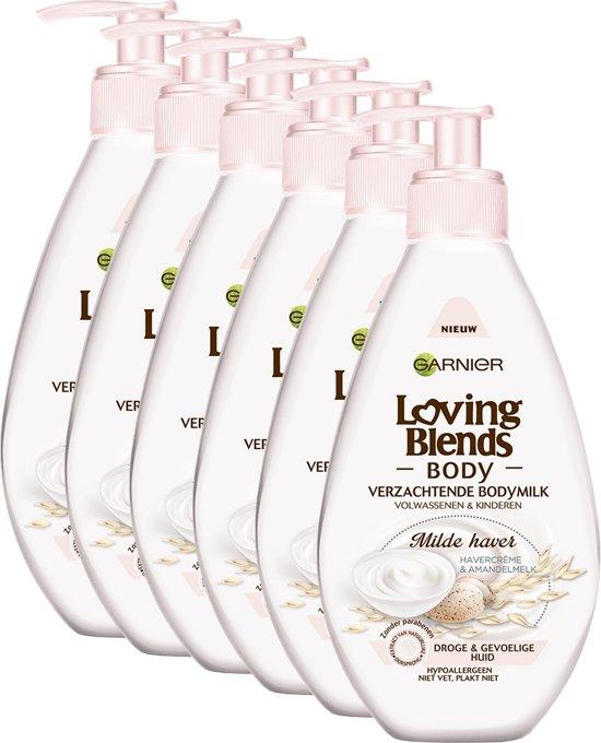 Garnier Loving Blends Body Milde Haver - 6 x 250ml - Bodymilk - Voordeelverpakking