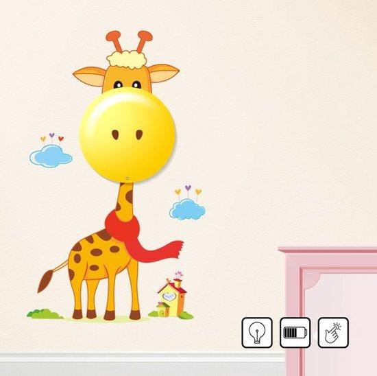 Muursticker Giraffe Kinderkamer.Bol Com 3d Kinderlamp Led Vrolijke Muursticker Giraffe Nachtlamp