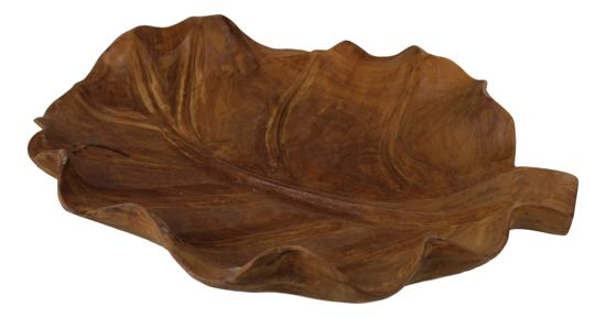 Teak Houten Fruitschaal.Bol Com Hsm Collection Fruitschaal Leaf Blank Teak