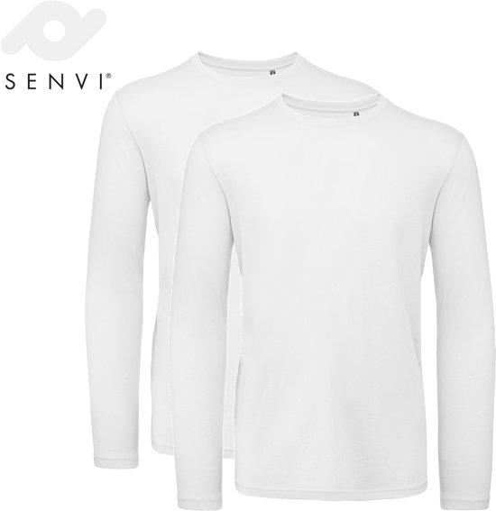 halve prijs geautoriseerde site hete verkoop Senvi 2 pack T-Shirt Lange Mouwen Biologisch Katoen - Wit - L