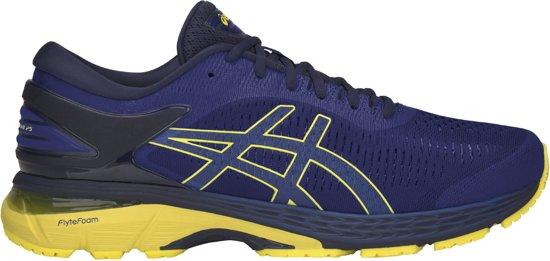 Asics Gel-Kayano 20 Hardloopschoenen Heren Sportschoenen - Maat 42 - Mannen  - blauw/geel/zwart