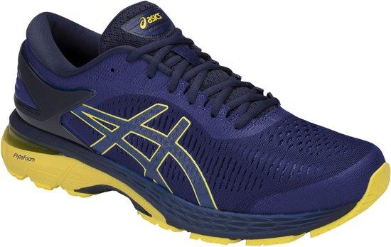 Asics Gel Kayano 20 Hardloopschoenen Heren Sportschoenen Maat 42 Mannen blauwgeelzwart