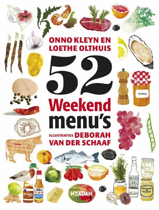Boek cover 52 Weekendmenus van Onno Kleyn (Paperback)
