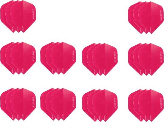 deDartshop 10 Sets (30 stuks) XS100 Poly - dartflights - Multipack - Roze