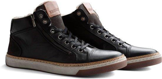 Travelin Nordby Sneaker gevoerde 45 Maat Winter Donkergrijs Casual Leer wr1Swdqn