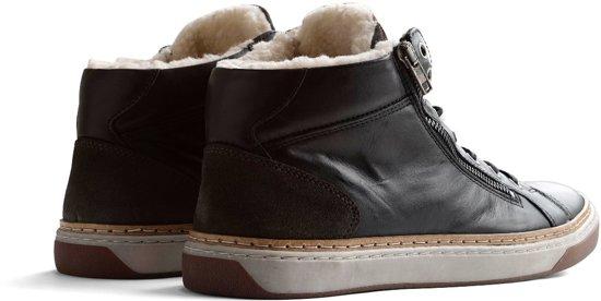 Nordby Maat Winter Travelin 45 Donkergrijs Casual Leer gevoerde Sneaker UdzwzOq0