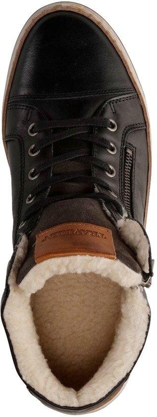 Nordby Casual Travelin Maat Winter 45 Donkergrijs gevoerde Leer Sneaker RFqCvw