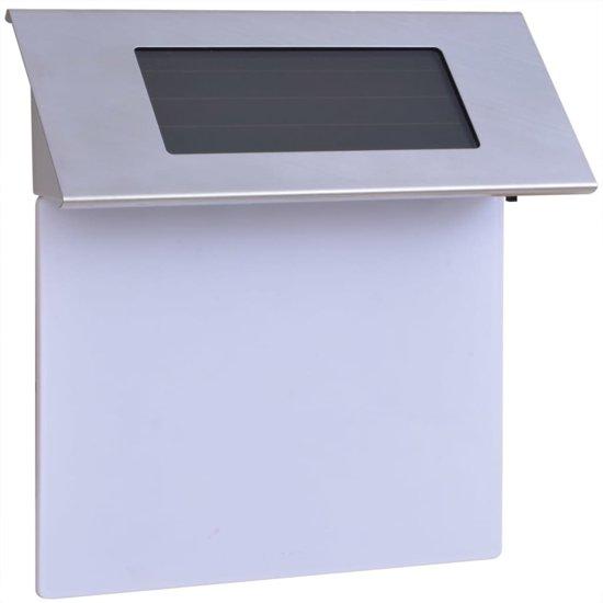 bol.com | vidaXL LED huisnummer op zonne-energie roestvrij staal ...
