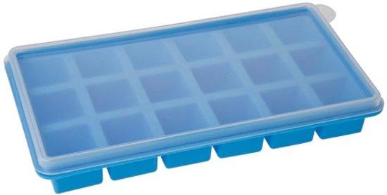 Siliconen Ijsblokvorm cube 18-delig (blauw)