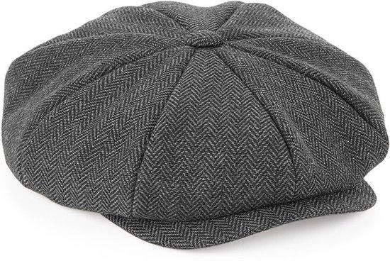 Bakkerspet/flatcap dames charcoat L/XL