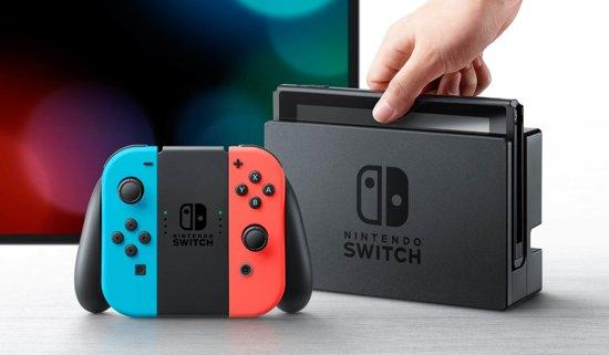 Nintendo Switch Console met 35 eShop tegoed voucher - 32GB - Rood/Blauw