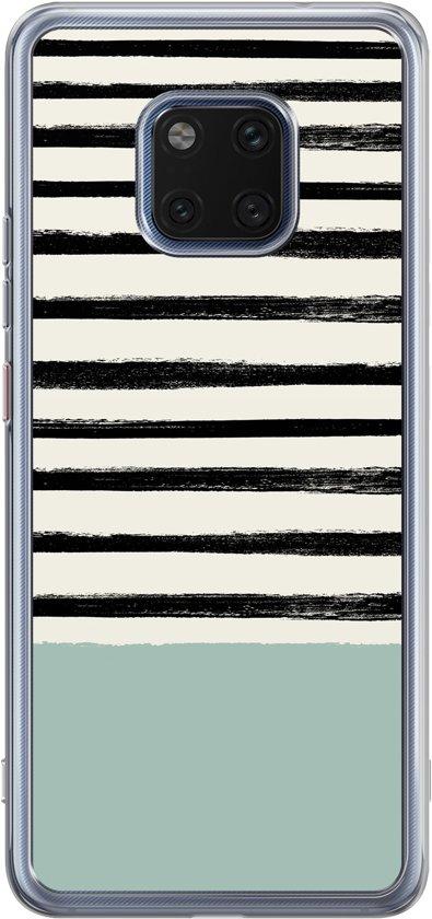Huawei Mate 20 Pro siliconen hoesje - Stripes on stripes