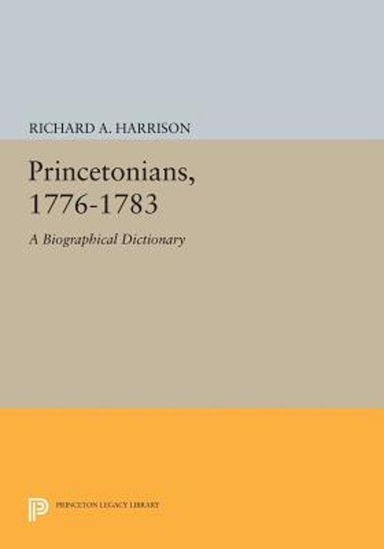 Princetonians, 1776-1783