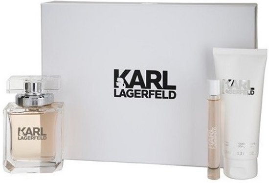 KARL LAGERFELD EDP 85ML + BODYLOTION 100ML + ROLL 10ML