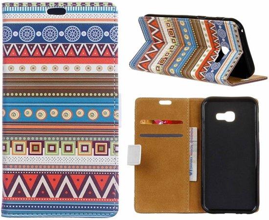 GSMWise - Samsung Galaxy Xcover 4 - Portemonnee Hoesje met Kaarthouder - Tribal Tribe Pattern Design in Ee / Ie