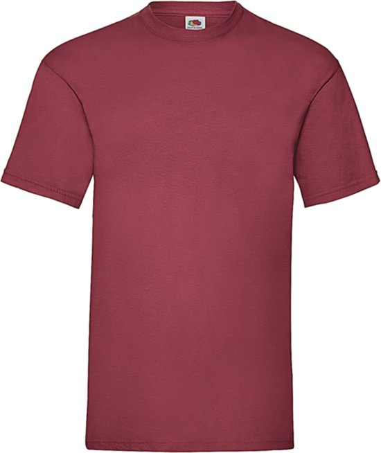 Fruit of the Loom T-shirt Valueweight, Brick Red, Maat M ( 5 stuks onbedrukt)