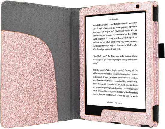Premium Hoes Kobo Aura H2O Edition 2 / H20 New Cover Pink Sparkle