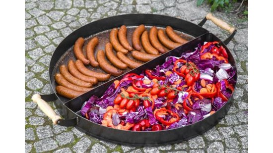 COOKKING BBQ Pan 2 verdelingen 70 cm met handvat