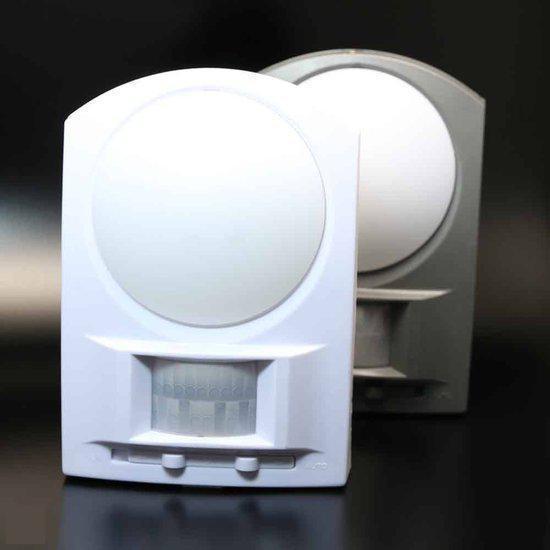 bol.com | Nachtlampje kleur wit met infrarood sensor ( 8 LED\'s) voor ...