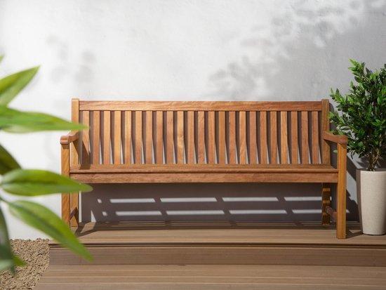 Beliani Java Tuinbank Licht houtkleur Hout