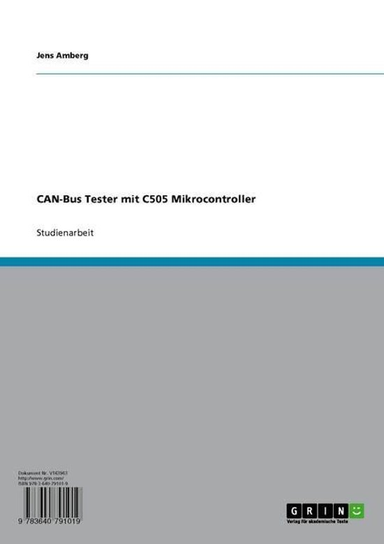 bol com | CAN-Bus Tester mit C505 Mikrocontroller (ebook
