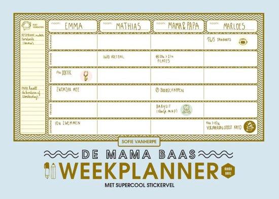 Boek cover Mama Baas - De mama baas weekplanner van Sofie Vanherpe (Paperback)