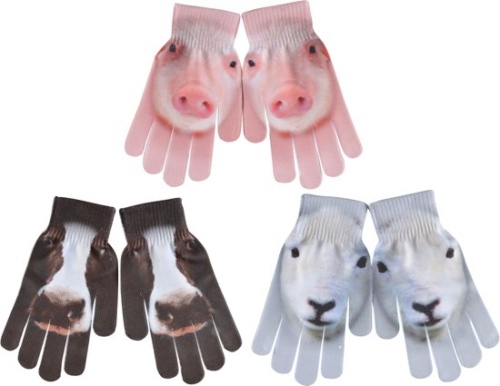 Kinderhandschoenen boerderijdieren